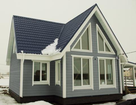 Каркасный дом по проекту КД 027 в КП Долина Уюта, в комплектации «Под ключ».