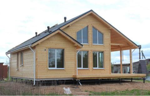 Строительство каркасного дома по проекту КД 035 в д. Дуброво