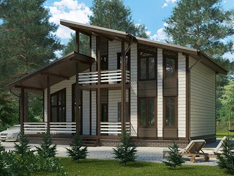 Проект каркасного дома КД-047