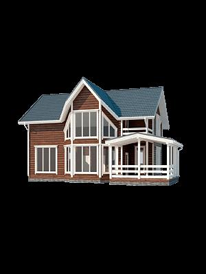 Каркасный дом - проект КД 034