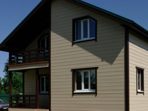 Каркасный дом по проекту КД-012 в СНТ «Торфяник»