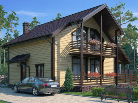 Проект каркасного дома ЭльБрус КД 051