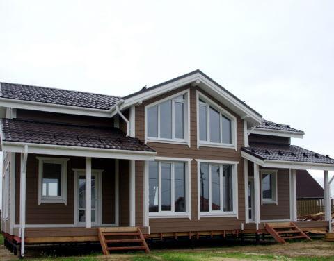 Строительство каркасного дома по проекту КД 036 в КП «Балтийская Слобода 2»