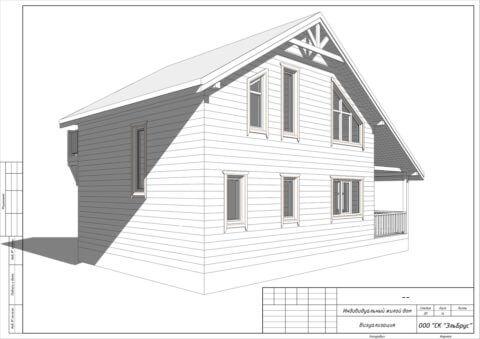 Каркасный дом по проекту Шале 004 в СНТ «КЭТ» - Общий вид 4