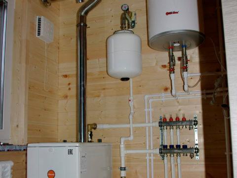 Монтаж системы отопления, проект КД 057 в СНТ «КЭТ»