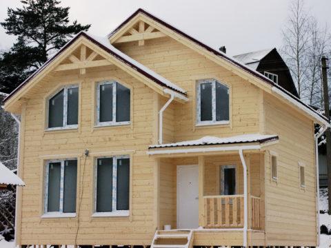 Каркасный дом по проекту КД 023 в д. Порошкино, СНТ «Березка»