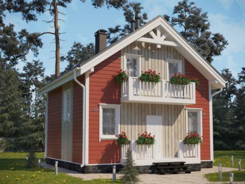Проект каркасного дома КД-061 - Общий вид