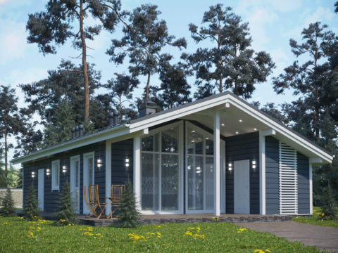 Проект каркасного дома КД-062 - Общий вид