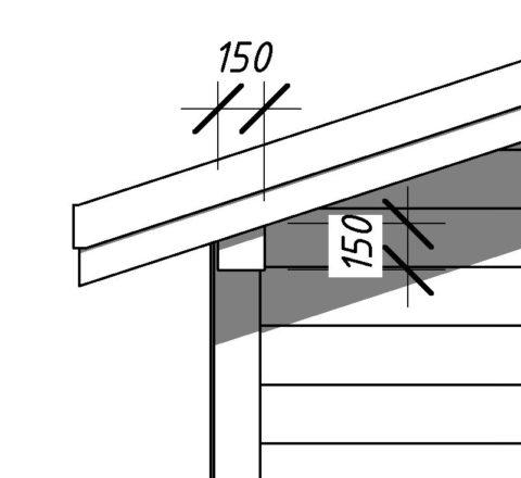Мауэрлат – сечение 150x150 мм