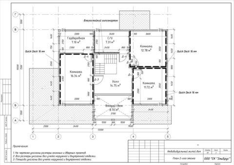 Каркасный дом по проекту КД 001, КП «Карельский Бриз» - План 2-ого этажа