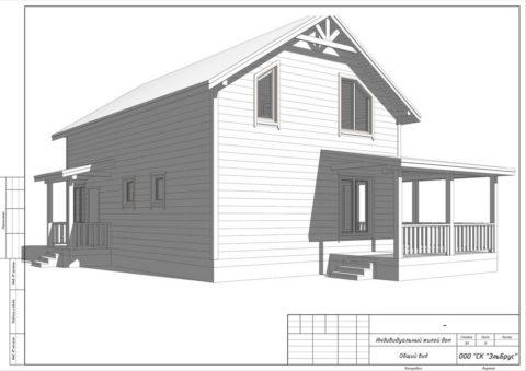 Каркасный дом по проекту КД 001, КП «Карельский Бриз» - Работы по утеплению, внутренней отделки + инженерный пакет