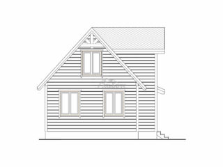 Каркасный дом ЭльБрус КД 015 - Фасад 2