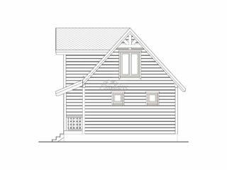Каркасный дом ЭльБрус КД 015 - Фасад 4