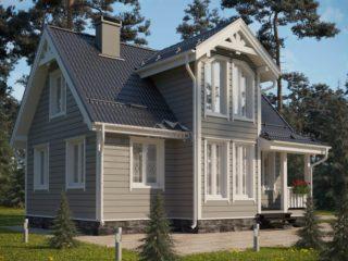 Каркасный дом ЭльБрус КД 015 - Общий вид