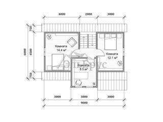 Каркасный дом ЭльБрус КД 015 - План 2-ого этажа