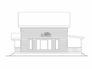 Проект каркасного дома КД-025 - Фасад 1