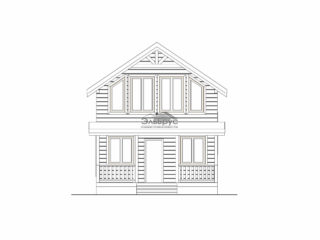 Проект каркасного дома КД-025 - Фасад 2