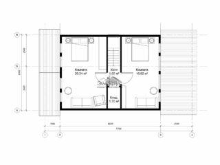 Проект каркасного дома КД-025 - План 2-ого этажа