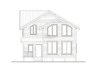Проект каркасного дома ЭльБрус КД-031 - Фасад 1