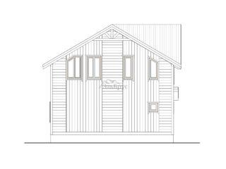 Проект каркасного дома ЭльБрус КД-031 - Фасад 2