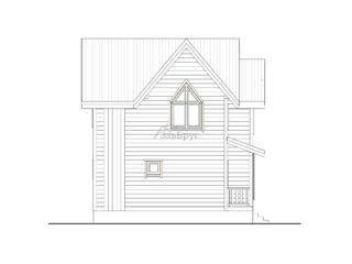 Проект каркасного дома ЭльБрус КД-031 - Фасад 3