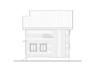 Проект каркасного дома ЭльБрус КД-031 - Фасад 4