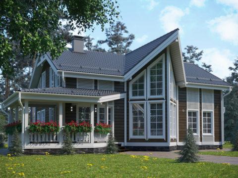 Проект каркасного дома КД 065 - Общий вид