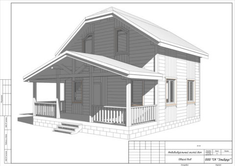 Каркасный дом в комплектации «С отделкой + инженерный пакет» по проекту КД 006 с террасой, СНТ «Ленинец»
