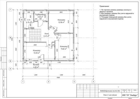 Каркасный дом в комплектации «Закрытый контур» по проекту КД 032, ДНП «Лубенская Долина» - План 2-ого этажа