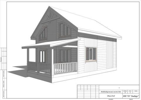 Каркасный дом в комплектации «Закрытый контур» по проекту КД 032, ДНП «Лубенская Долина» - Общий вид