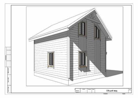 Каркасный дом по проекту ДД 006, Смоленская область, СНТ «ДРУЖБА» - Общий вид