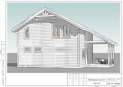 Каркасный дом в комплектации «С отделкой + Инженерный пакет» по проекту КД 029, г. Зеленогорск - Общий вид