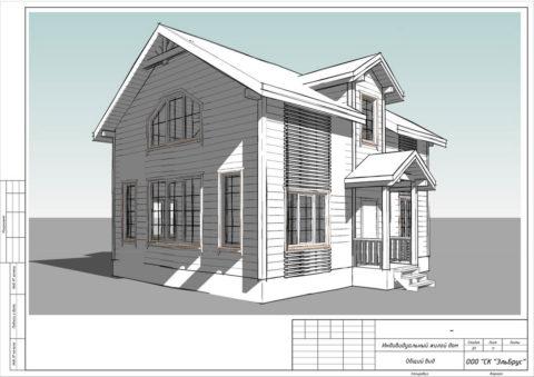 Каркасный дом в комплектации «Закрытый контур» по проекту КД 043, СНП «Северная Жемчужина» - Общий вид