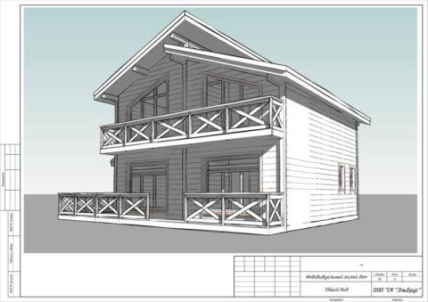Каркасный дома по проекту КД 049, КП «Балтийская Слобода 2» - Общий вид