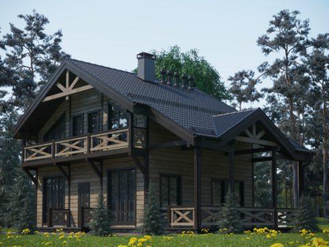 Проект каркасного дома КД 066 - Общий вид