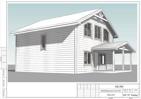 Каркасный дом в комплектации «С отделкой» по проекту КД 050, ДНП «Гранит» - Общий вид