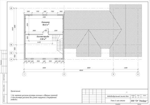 Каркасный дом в комплектации «С отделкой + Инженерный пакет» по проекту КД 060, СНТ «Фауна» - План 2-ого этажа