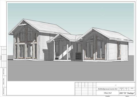 Каркасный дом в комплектации «С отделкой + Инженерный пакет» по проекту КД 060, СНТ «Фауна» - Общий вид