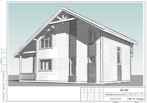 Каркасный дом в комплектации «С отделкой» по проекту КД 066, СНТ «Фауна» - Общий вид