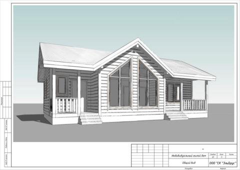 Каркасный дом в комплектации «С отделкой» по проекту КД 054, КП «Имение Оржицкого» - Общий вид
