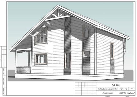 Каркасный дом по проекту КД 066 в СП Селезневское, массив «Кондратьевский» - Общий вид