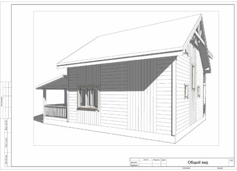 Каркасный дом в комплектации «Теплый контур» по проекту КД 032, Смоленский район с. Каспля 2 - Общий вид