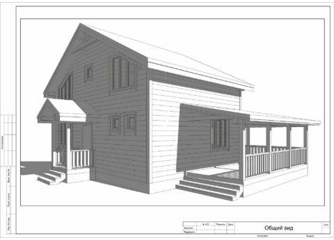 Каркасный дом в комплектации «с отделкой» по проекту КД 033, Смоленский район, д. Нагать - Общий вид