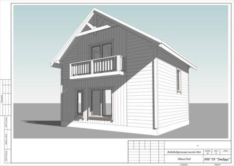 Каркасный дом в комплектации «С отделкой + Инженерный пакет» по проекту КД 061, пос. Ольгино - Общий вид