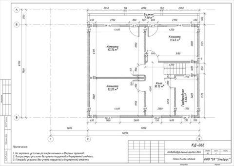 Каркасный дом в комплектации «Закрытый контур» по проекту КД 066, пос. Белоостров, ДПК «Поляна» - План 2-ого этажа
