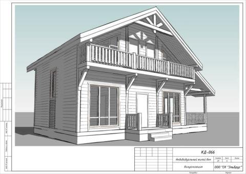 Каркасный дом в комплектации «Закрытый контур» по проекту КД 066, пос. Белоостров, ДПК «Поляна» - Общий вид