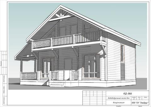 Каркасный дом в комплектации «С отделкой + Инженерный пакет» по проекту КД 066, КП «Кавголовское Озеро» - Общий вид