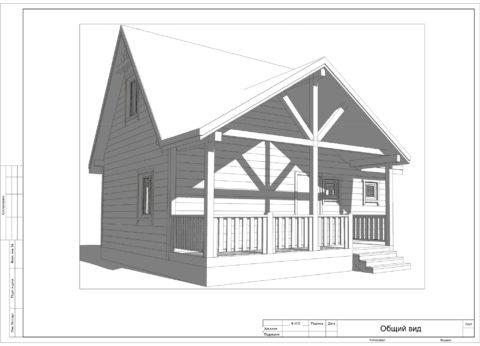 Каркасный дом в комплектации «С отделкой + Инженерный пакет» по проекту ДД 004, д. Михайловское - Общий вид