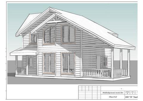 Каркасного дома в комплектации «C отделкой + Инженерный пакет» по проекту КД 029, КП «Сосновские Озера – 2» - Общий вид