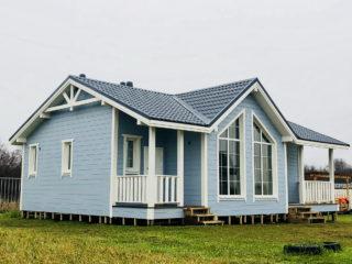 Каркасный дом в комплектации «Теплый контур» по проекту КД 054, в д. Большое Забородье